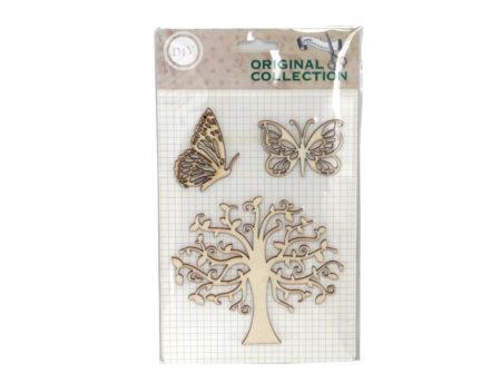 leptiri, drvo, deko, drvena dekoracija