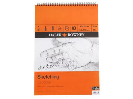 sketchbook, arteco, blok, skiciranje