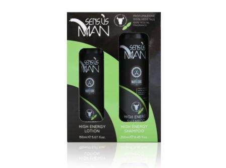 set šampon i losion, sensus man, menta, taurin, poklon za muškarca