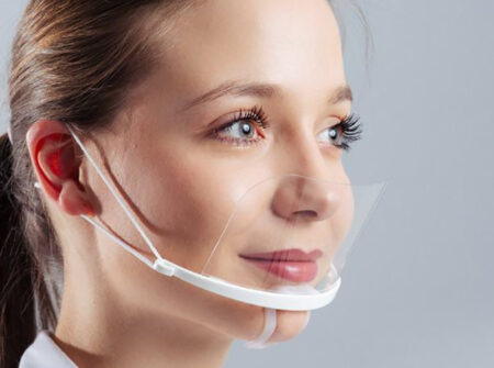 prozirna maska, maska za lice, mini vizir, covid maska