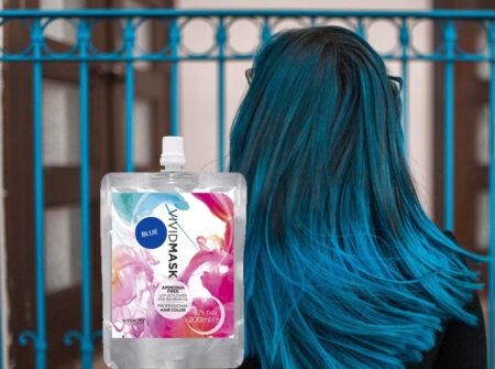 plava maska u boji, vision cosmetic, plava maska, nebesko plava, maska za kosu, pigmetirana maska, održavanje plave boje, održavanje boje