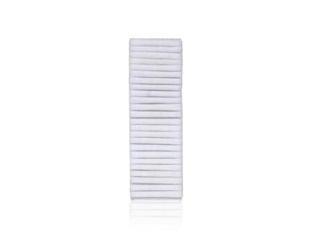 Bijele pamučne gumice za kosu 24 komada