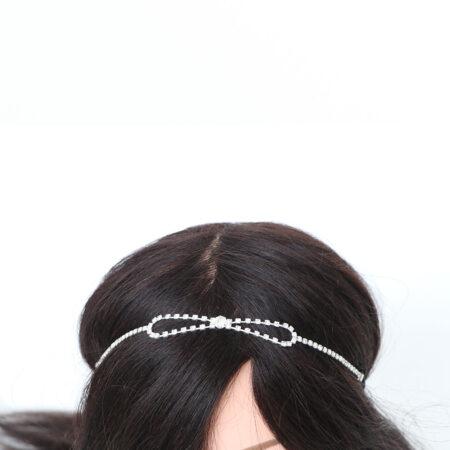 ukrasna traka za kosu, svečana frizura, ukras za svadbenu frizuru, iukras za kosu, traka za kosu, cirkoni